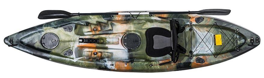 kayak de pesca autovaciable