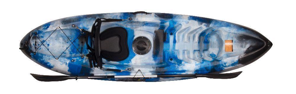 kayak rígido autovaciable una plaza