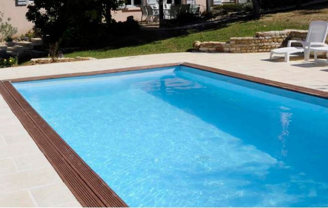Piscina cuadrada de madera natural 3x3m carra megapiscinas for Hacemos piscinas