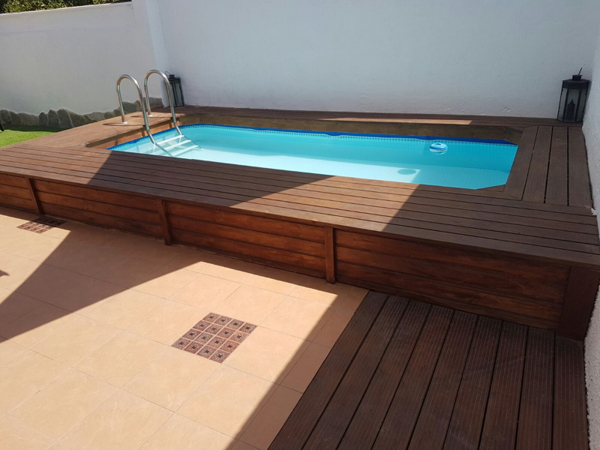 Piscina de madera desmontable piscinas elevadas de madera - Piscinas elevadas de madera ...