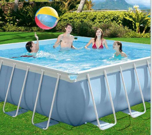 Piscina desmontable cuadrada 488x488 intex megapiscinas for Hacemos piscinas