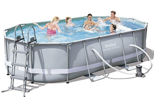 piscina steel oval de Bestway
