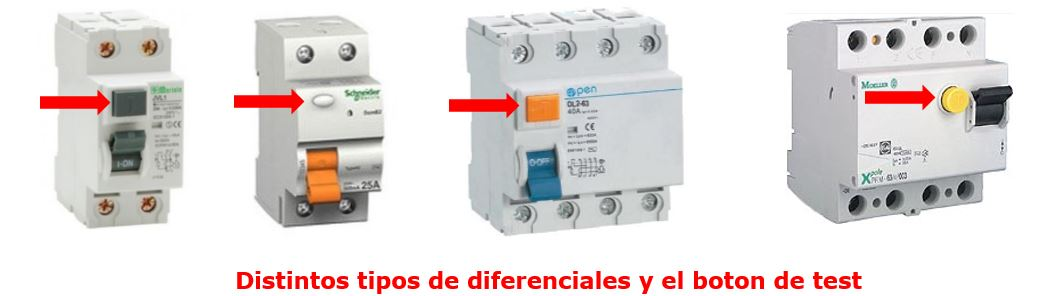 diferenciales, botón test