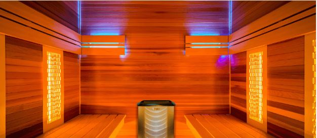 Sauna hybride Combi interior